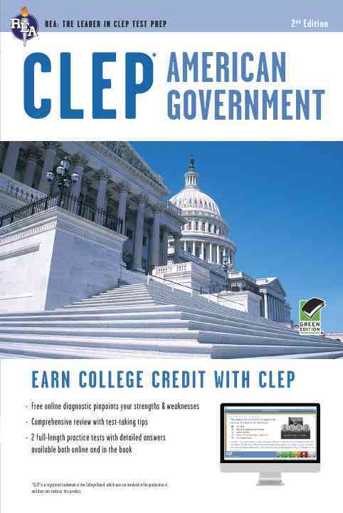 Clep American Government With Online Practice Tests By Jones, Preston