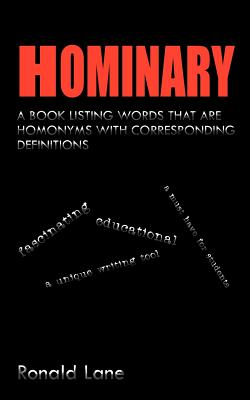 Hominary By Lane, Ronald